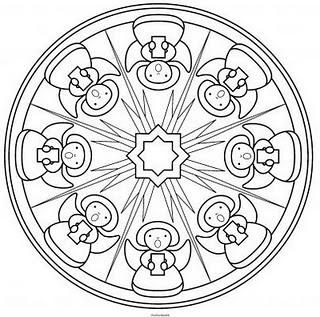 Coloriage a imprimer mandala chorale des anges gratuit et - Chorale dessin ...
