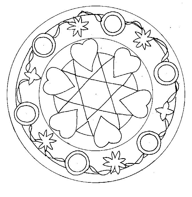 Coloriage a imprimer mandala coeur gratuit et colorier - Mandala coeur imprimer gratuitement ...