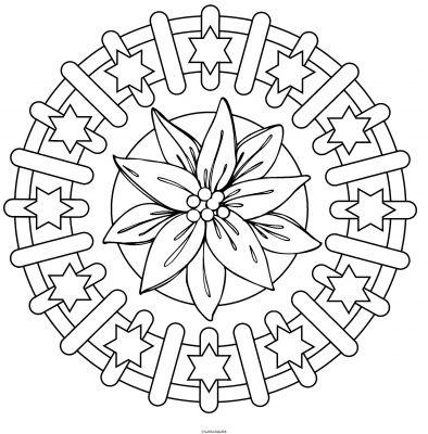 Coloriage a imprimer mandala fleurs etoiles gratuit et - Fleur a imprimer gratuit ...