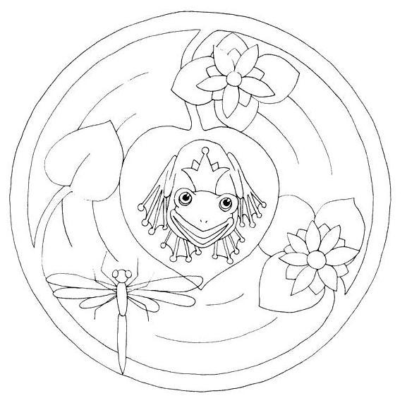 Coloriage Grenouille Mandala.Coloriage A Imprimer Mandala Grenouille Et Nenuphars Gratuit Et Colorier