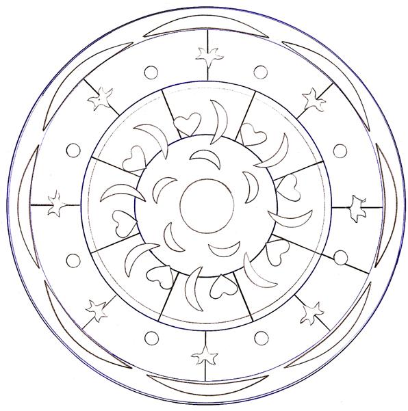 Coloriage a imprimer mandala lune gratuit et colorier