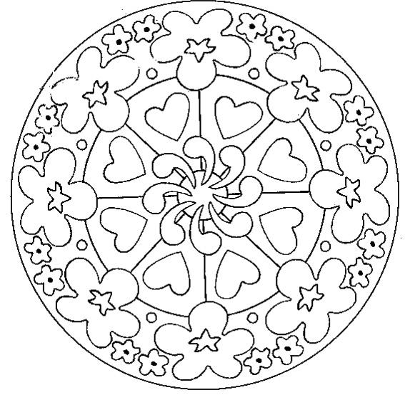 Coloriage a imprimer mandala ronde de coeurs gratuit et - Coloriage a imprimer mandala gratuit ...