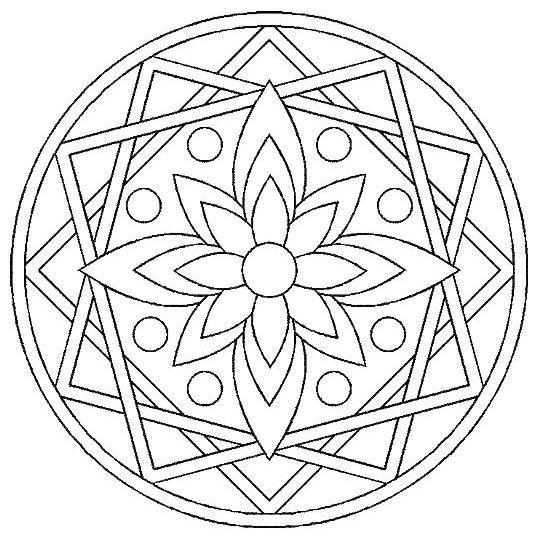 Coloriage A Imprimer Mandala Rosace Gratuit Et Colorier
