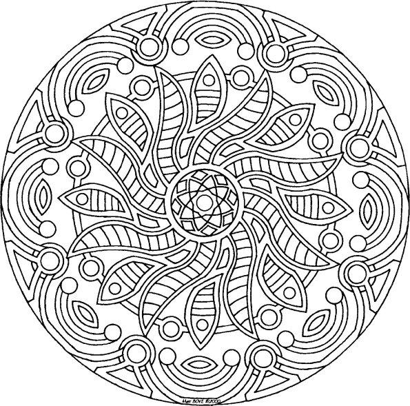 Coloriage a imprimer mandala roue gratuit et colorier - Mandala a imprimer gratuit ...