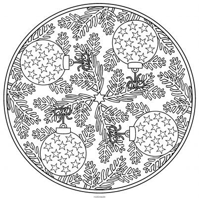 Coloriage a imprimer mandala sapin de noel gratuit et colorier - Coloriage de mandala de noel ...