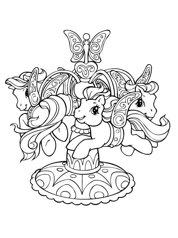 Coloriage a imprimer manege de petits poneys gratuit et - My little pony gratuit ...