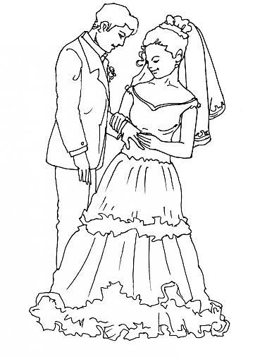 ... imprimer mariage l echange des alliances gratuit et colorier