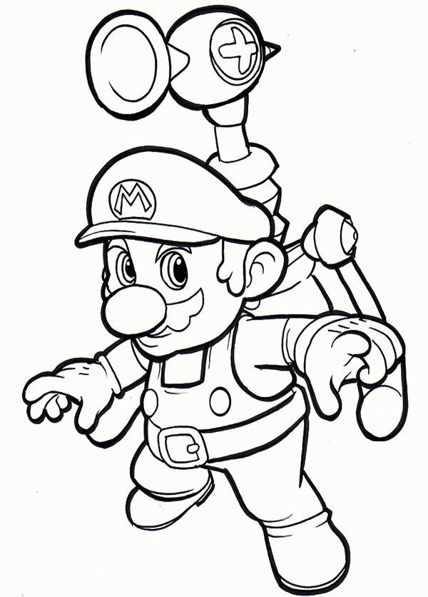 Coloriage Fusee Mario.Coloriage A Imprimer Mario Avec Sa Fusee Gratuit Et Colorier