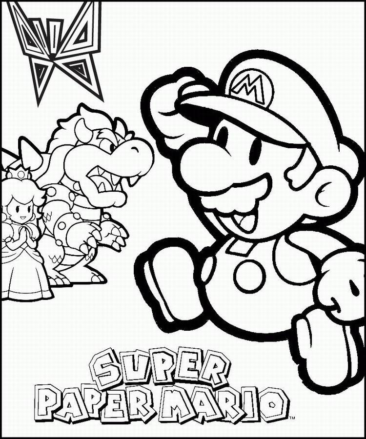 Coloriage Princesse De Mario.Coloriage A Imprimer Mario La Princesse Pearl Et Browser