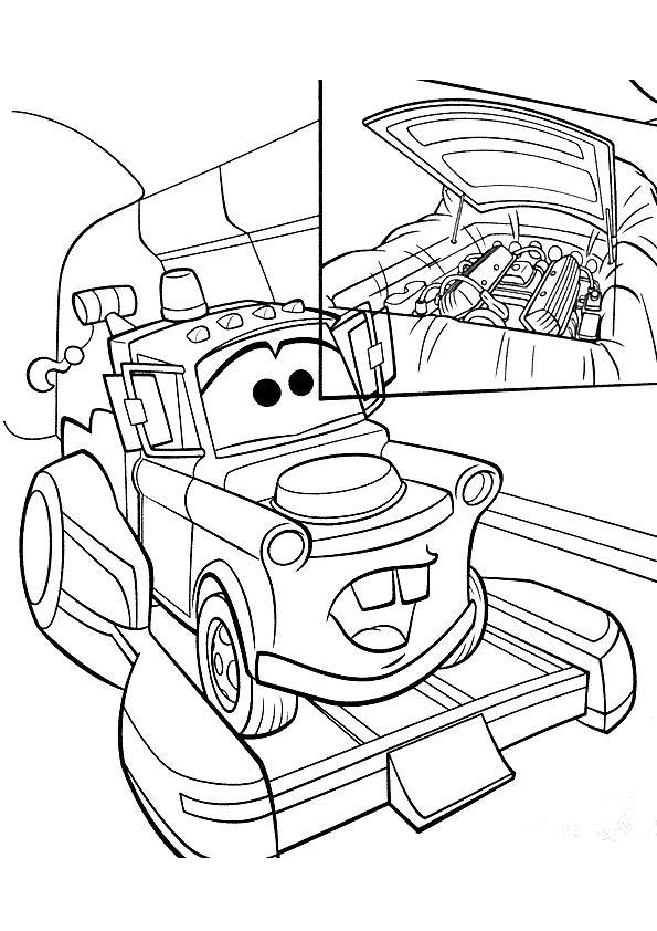 Coloriage a imprimer martin sur une remorque cars 2 - Cars 2 coloriage ...