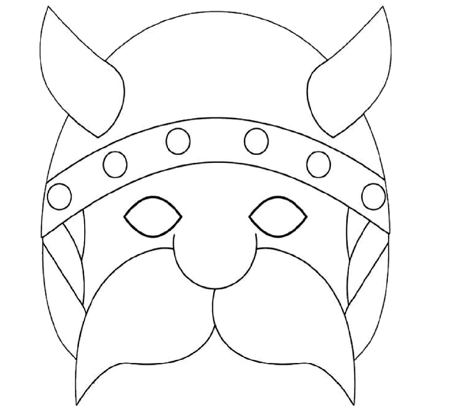 masque gaulois a colorier d coupage a imprimer. Black Bedroom Furniture Sets. Home Design Ideas