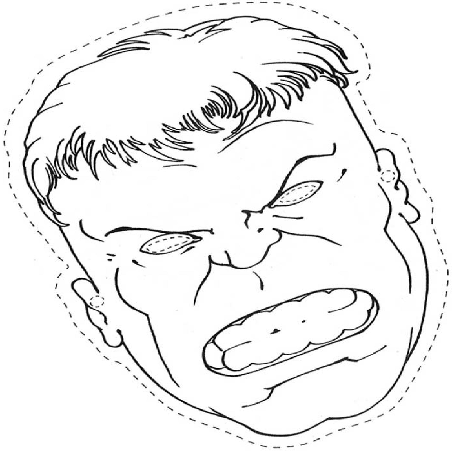 Masque Hulk A Colorier Découpage A Imprimer