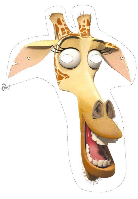 Masque madagascar girafe d coupage a imprimer - Girafe dans madagascar ...