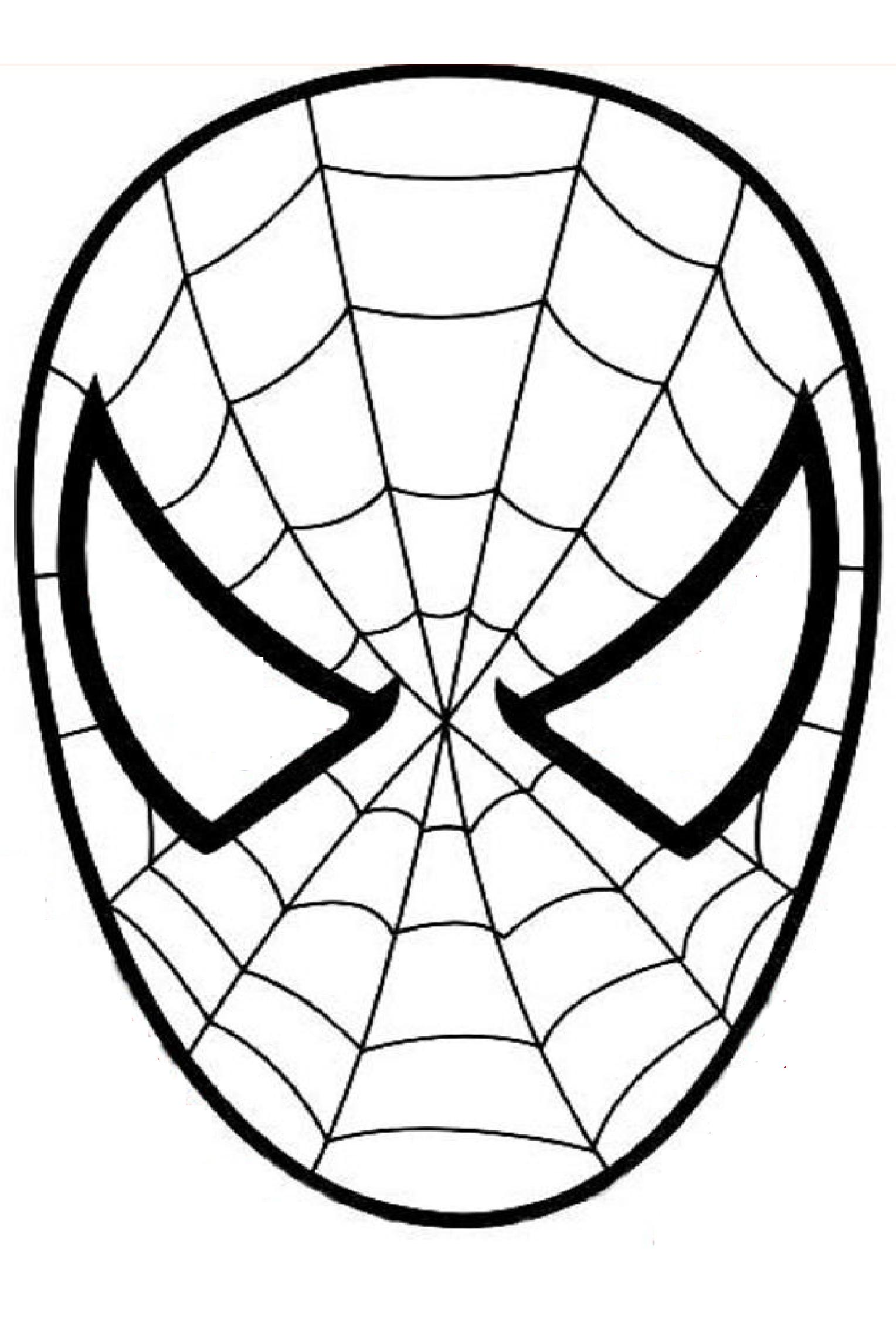 masque spiderman a colorier