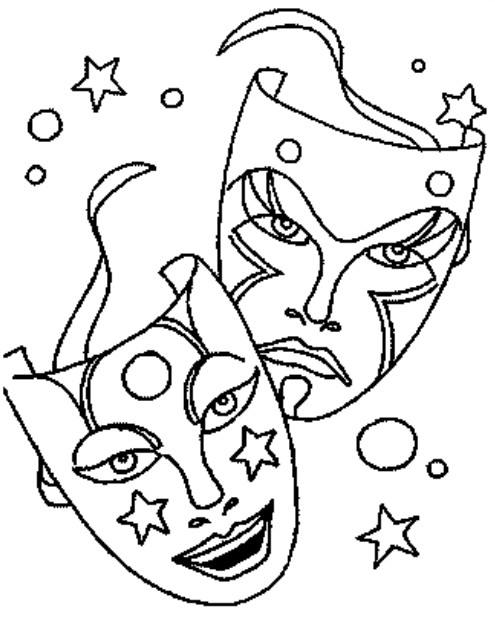 Coloriage a imprimer masques de carnaval gratuit et colorier - Coloriage masque a imprimer ...