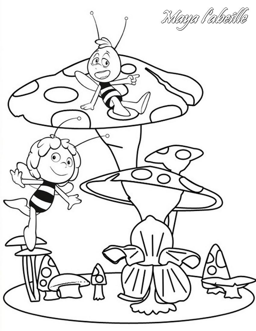 Coloriage a imprimer maya l abeille dansent gratuit et - Maya l abeille coloriage ...
