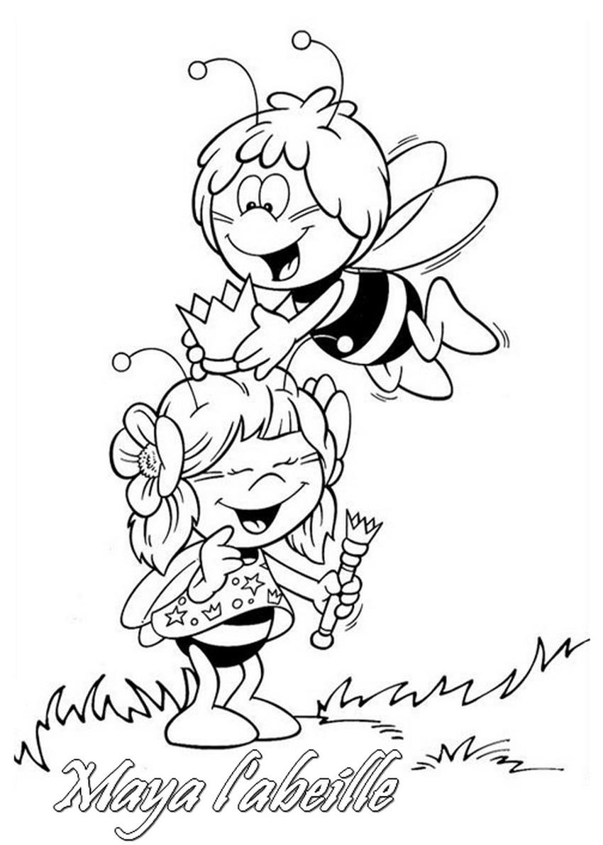 Coloriage a imprimer maya l abeille se deguise gratuit et - Maya l abeille coloriage ...