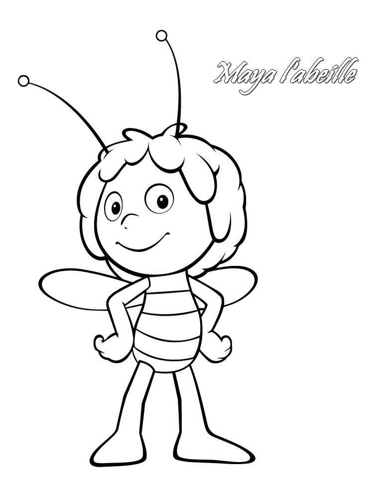 Coloriage a imprimer maya l abeille gratuit et colorier - Maya l abeille coloriage ...