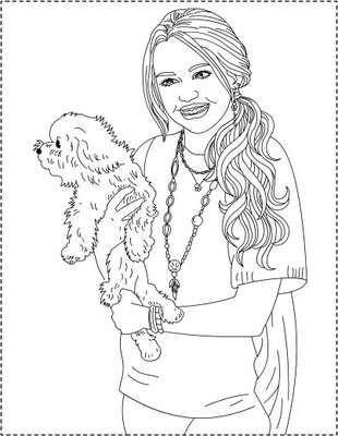 Coloriage a imprimer miley cyrus hannah montana avec son for Montana coloring pages