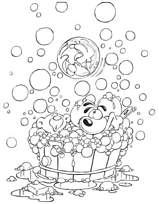 coloriage Diddl bain