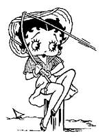 Afficher le coloriage betty boop a la peche