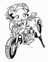 Afficher le coloriage betty boop en jolie motarde