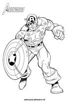 coloriage captain america avengers