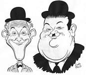 coloriage caricature de laurel et hardy