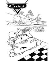 coloriage cars circuit