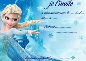 Carte invitation reine des neiges imprimer carte anniversaire elsa reine des neiges 2 stopboris Images