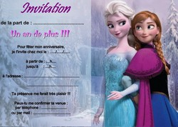 Carte Invitation Reine Des Neigesà Imprimer