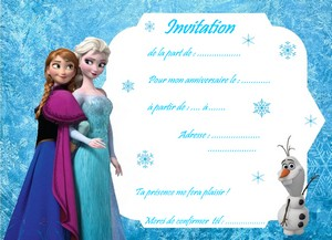 Carte invitation reine des neiges imprimer carte anniversaire reine des neige avec olaf et anna stopboris Gallery