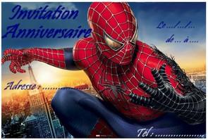 Carte Invitation Anniversaire Spidermanà Imprimer