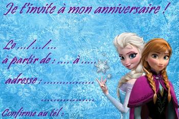 Carte invitation reine des neiges imprimer carte invitation frozen reine des neiges stopboris Images