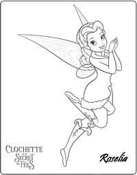 Coloriage clochette et le secret des fees roselia - La fee clochette et le secret des fees ...