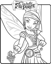 coloriage iridessa en fee pirate