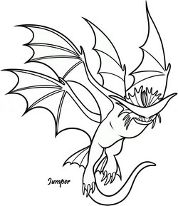 Coloriage dragons 2 jumper - Furie nocturne dessin ...
