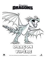 coloriage dragons  vipere tempete