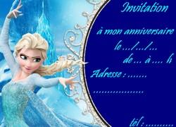 Carte invitation reine des neiges imprimer elsa reine des neige carte invitation stopboris Gallery