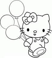 Coloriage hello kitty et ses ballons - Coloriage hello kitty et mimi ...