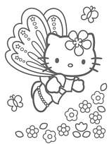 Coloriage Hello Kitty Cheval.Coloriage A Imprimer Hello Kitty S5732