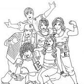 coloriage high school musical la bande