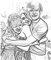 coloriage high school musical troy et ses amies