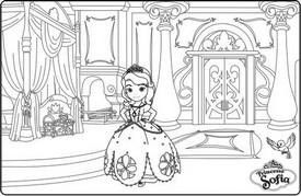 Coloriage Chateau Princesse Sofia.Coloriage A Imprimer Princesse Sofia