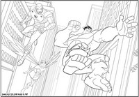 coloriage les avengers en action hulk iron man