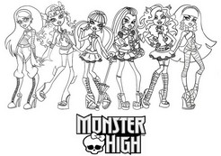 coloriage les monster high