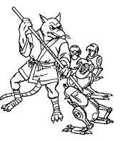 Coloriage les tortues ninjas et leur maitre rat - Rat tortues ninja ...