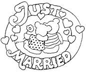 coloriage mariage just married