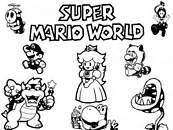 coloriage mario world
