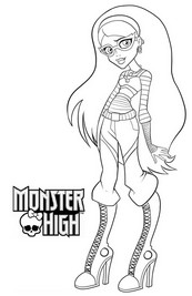 coloriage monster high ghoulia yelps